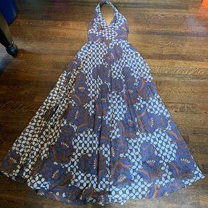 VINTAGE Bohemian / Boho Floral Maxi Formal Dress